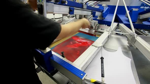Thumbnail for Screen Printing Manufacturing On T-Shirts 10