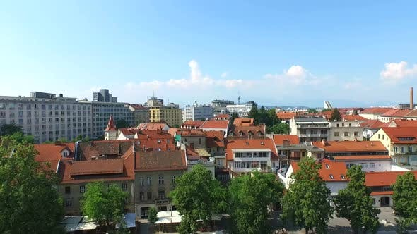Thumbnail for Aerial View Of Slovenian Capital City Ljubljana.