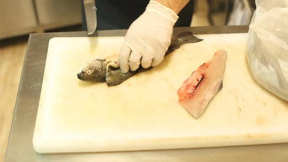 Thumbnail for Chef Cutting Fish In Restaurant 2