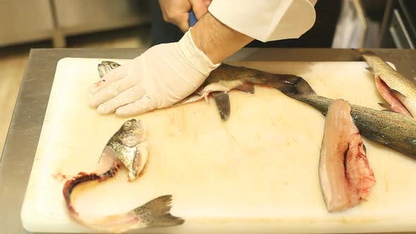 Thumbnail for Chef Cutting Fish In Restaurant 4