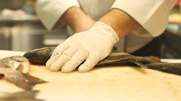 Thumbnail for Chef Cutting Fish In Restaurant 5