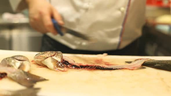 Thumbnail for Chef Cutting Fish In Restaurant 6
