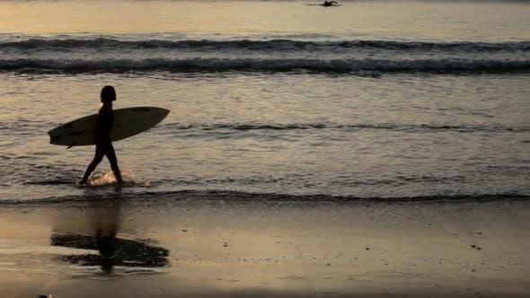 Thumbnail for Woman Surfer On Beach 2