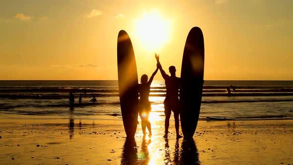 Thumbnail for Surfers At Sunset 3