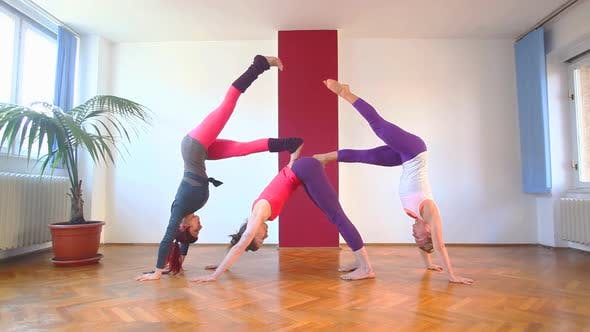 Thumbnail for Women Doing Yoga Class In Hall 43