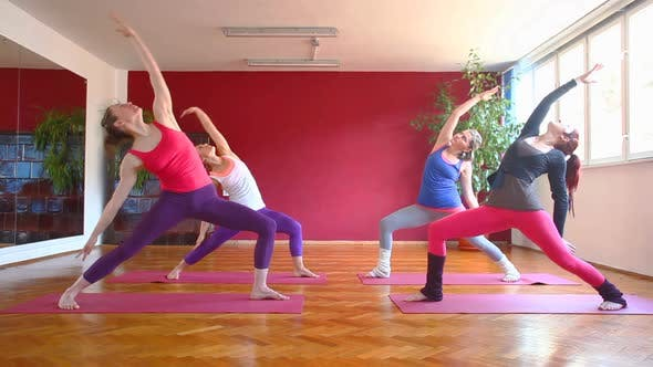 Thumbnail for Women Doing Yoga Class In Hall 63