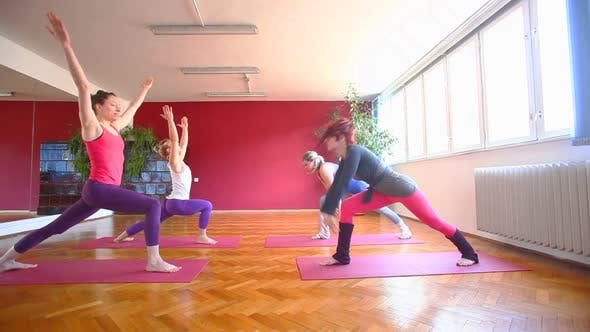 Thumbnail for Women Doing Yoga Class In Hall 67
