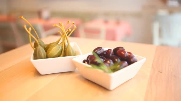 Thumbnail for Olives Served As Appetizer In A Restaurant