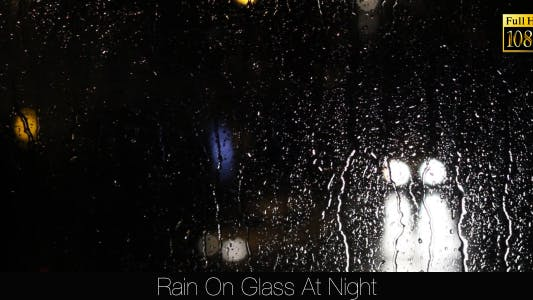 Cover Image for Rain On Glass At Night