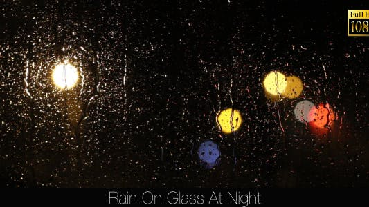 Thumbnail for Rain On Glass At Night 2