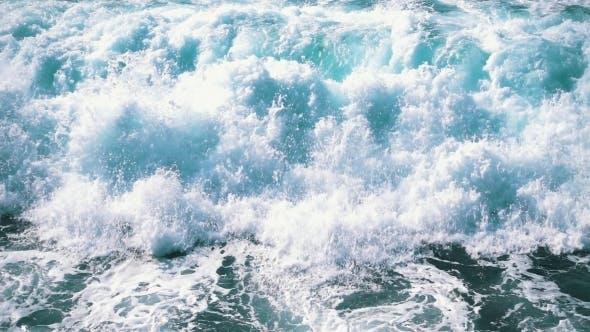 Ocean Waves Breaking On Shore