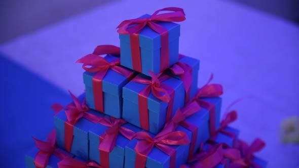 Thumbnail for Present Boxes On A Table