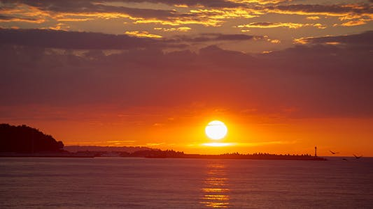 Thumbnail for Timelaps Sunset on the Sea Shore