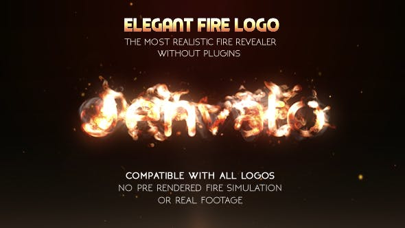 Thumbnail for Elegant Fire Logo (No Plugin)