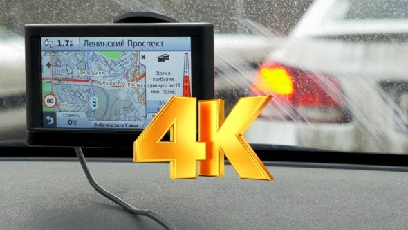 Thumbnail for Car On Stop, GPS In Foreground