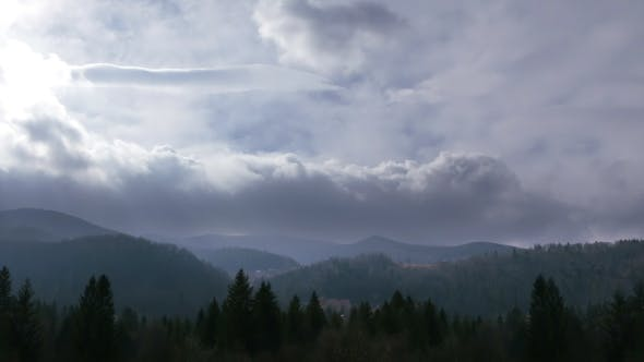 Thumbnail for Dramatic Sky in the Mountains