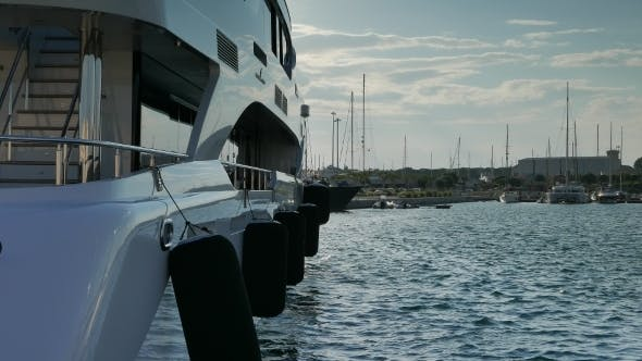 Thumbnail for Superyacht Moored At Harbor