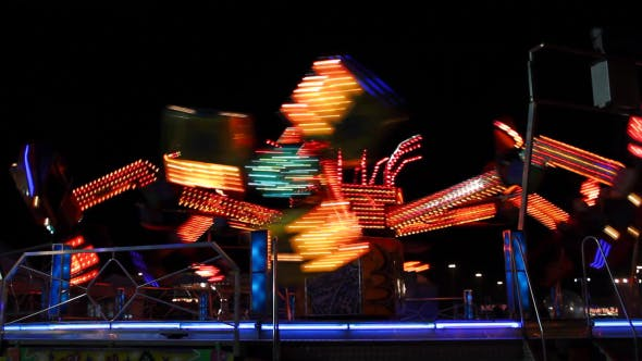 Thumbnail for Spinning Carousel In Night