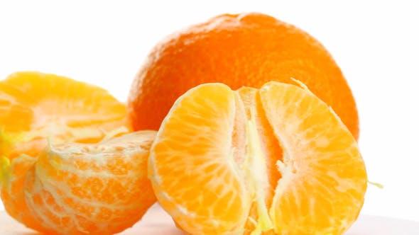 Thumbnail for Tangerine On White Background