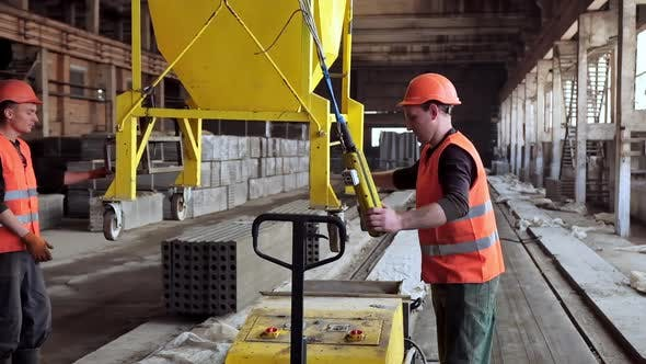 Thumbnail for Workers on the concrete plant