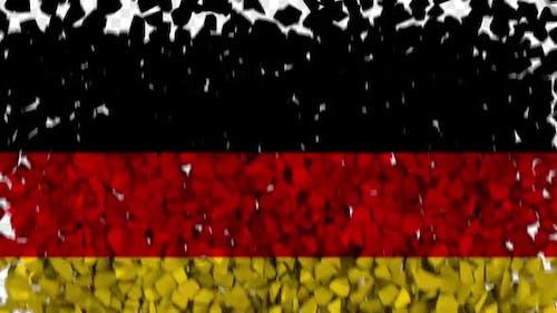 Germany Flag Breaking Rocks Transition
