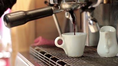 Making Coffee In a Bar