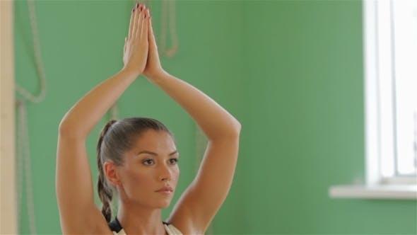 Thumbnail for Young Brunette Girl Practising Yoga