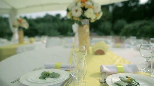 Festive Table In Wedding Day