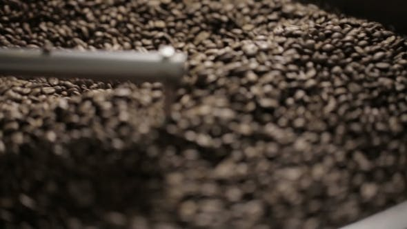 Thumbnail for Coffee Beans In The Roasting Machine