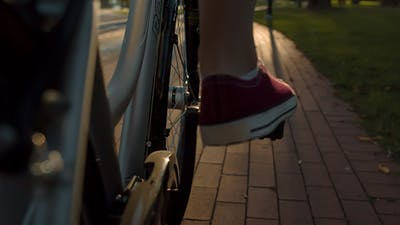 Pedaling on a Bicycle