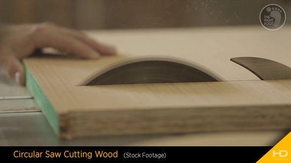 Thumbnail for Circular Saw Cutting Wood