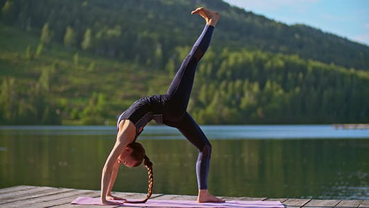 Yoga Wheel Variations