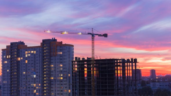 Thumbnail for Construction Site In Motion 8 (After Dusk)