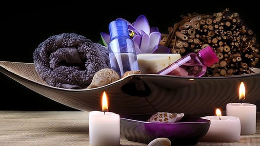 Thumbnail for Spa and Wellness Setting with Candles