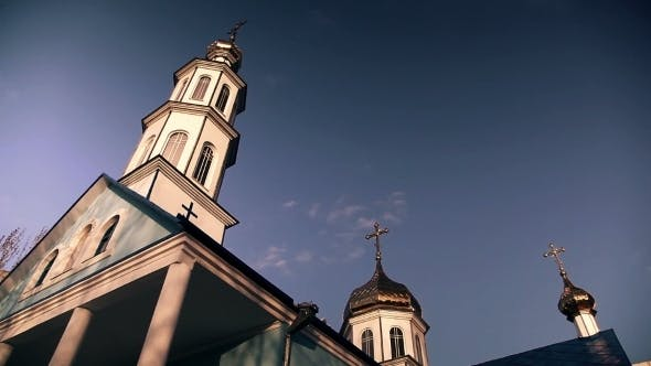 Thumbnail for Christian Church On a Background Of Clouds