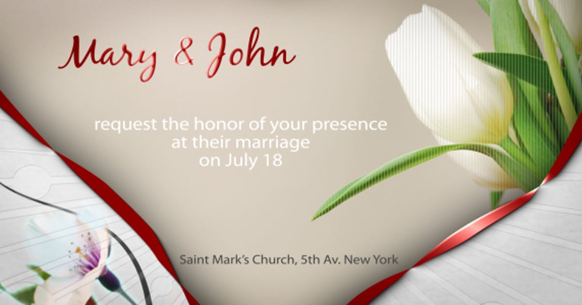 Download Wedding Invitation e-card by steve314