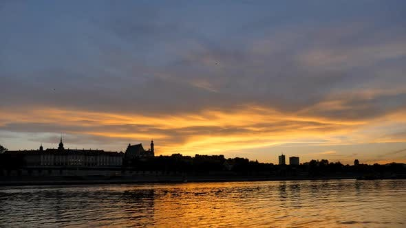 Thumbnail for Colorful Sunset over the Old Town in Warsaw