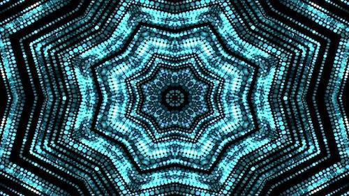 Blau glitzerndes Kaleida