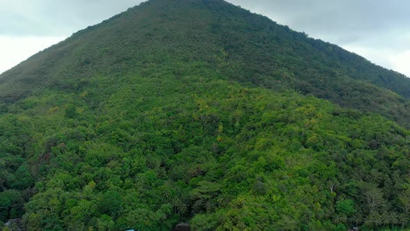 Thumbnail for Aerial: flying over Banda Islands active volcano Gunung Api Indonesia