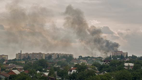 Thumbnail for City On Fire After Artillery Strike
