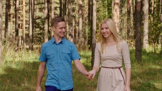 Thumbnail for Beautiful Loving Couple Going For a Walk Outdoors