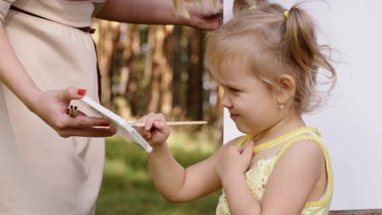 Thumbnail for Little Girl Painting On Easel