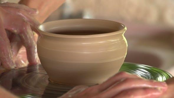 Thumbnail for Potter Sculpts Clay Small Pot