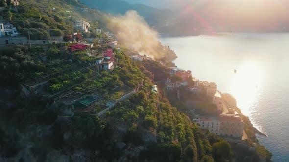 Thumbnail for Aerial of Amalfi Coast By Dawn