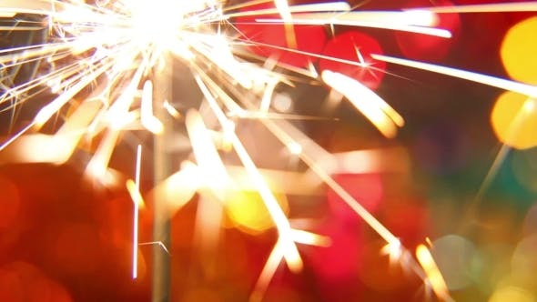 Thumbnail for Sparkler On a Bright, Colored Background 2