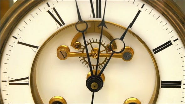 Thumbnail for Ticking of an Old Clock Showing the Mechanism