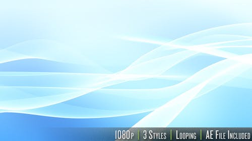 HD Flowing Wave - Series of 3 - LOOP with AE File