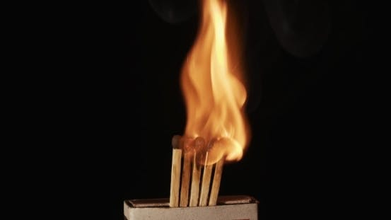 Thumbnail for Burning Matches in Slow Motion