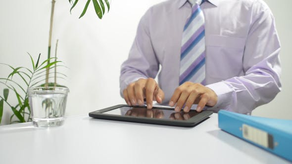 Thumbnail for Typing Business Email on Tablet PC