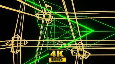 Soaring Bouncing Neon Lines 4K